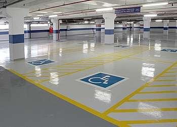 Demarcação de faixas para estacionamento Santos