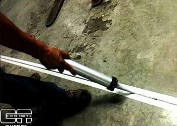 Execução junta dilatação piso concreto