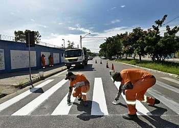 Pintura de faixa de sinalização São Bernardo do Campo