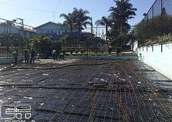 Piso de concreto para quadra poliesportiva